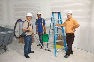 Sparkling Klean will clean up after your building and construction project.